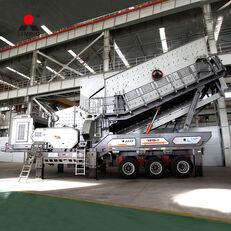 新移动式破碎装置 Liming durable and efficient complete stone crushing plant price low in
